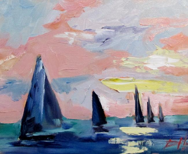 Art: Sailboats No.12 by Artist Delilah Smith
