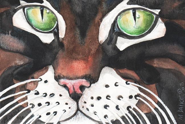 Art: Green Eyes by Artist Melinda Dalke
