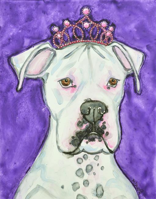 Art: Princess Boxer by Artist Melinda Dalke