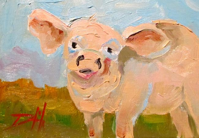 Art: Pig No.8 by Artist Delilah Smith