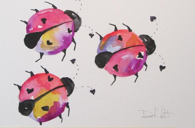 Art: Love Bugs by Artist Delilah Smith