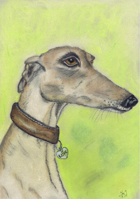 Art: GREYHOUND d316 by Artist Dawn Barker