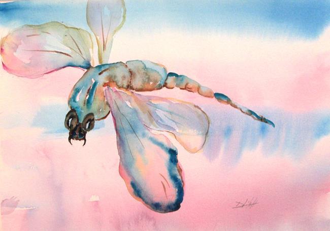 Art: Aqua Blue Dragonfly by Artist Delilah Smith