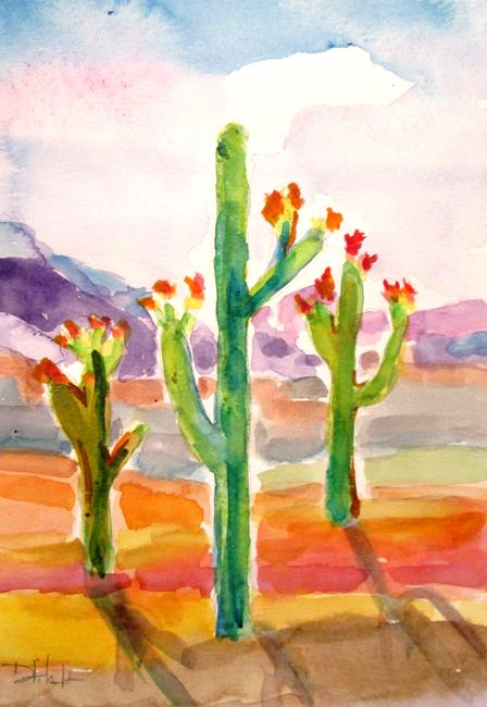 Art: Desert Blooms by Artist Delilah Smith