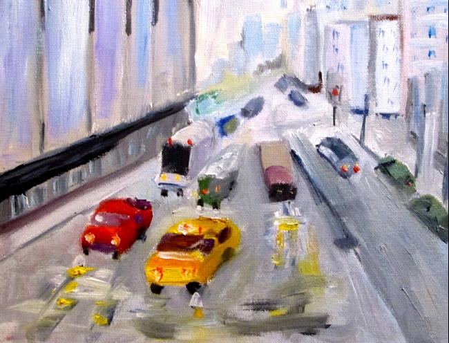 Art: New York Traffic by Artist Delilah Smith