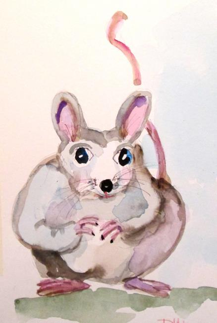 Art: Fat Mouse by Artist Delilah Smith
