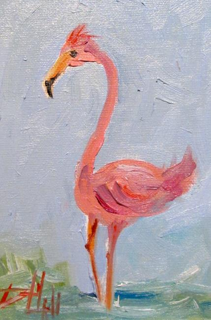 Art: Flamingo No.18 by Artist Delilah Smith