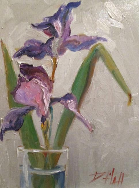 Art: Vase of Iris by Artist Delilah Smith