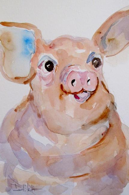 Art: Pig No.9 by Artist Delilah Smith