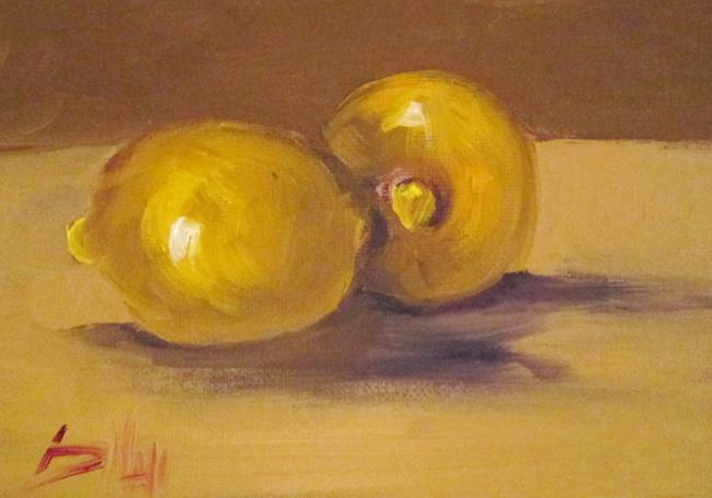 Art: Two Lemons by Artist Delilah Smith