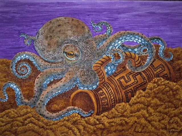 Art: Octopus's Garden by Artist Jackie K. Hixon