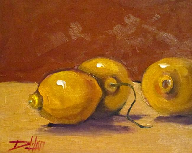 Art: Still life of Lemons by Artist Delilah Smith