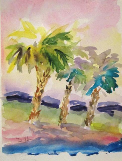 Art: Group of Palm Trees by Artist Delilah Smith
