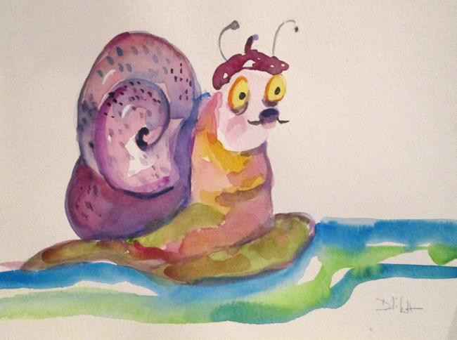 Art: French Snail by Artist Delilah Smith