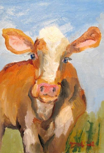 Art: Cow No. 11 by Artist Delilah Smith