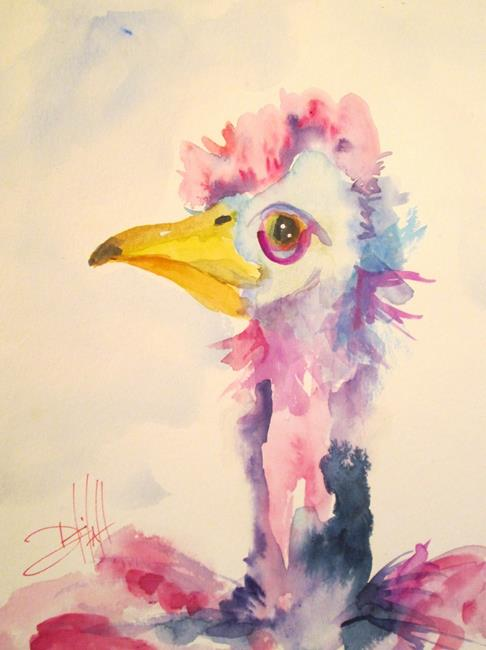 Art: Long Necked Bird by Artist Delilah Smith