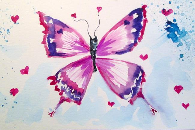 Art: Valentine Butterfly by Artist Delilah Smith