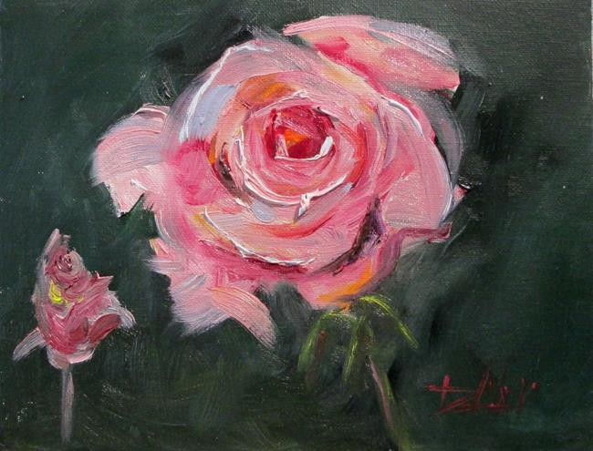 Art: Pink Rose No.6 by Artist Delilah Smith