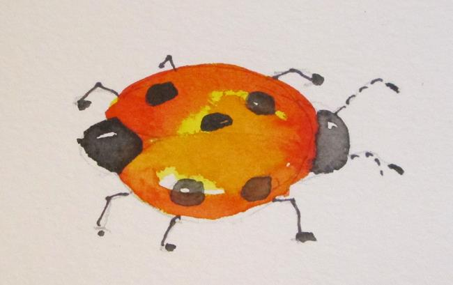 Art: Ladybug by Artist Delilah Smith