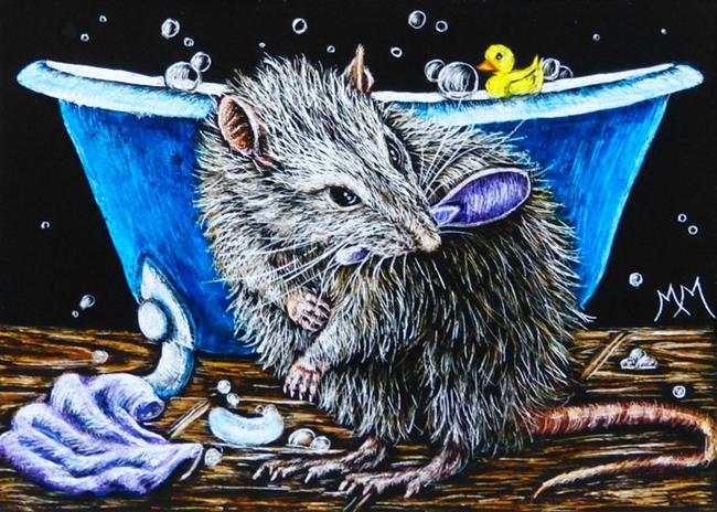 Art: Brush Your Squeaks  (SOLD) by Artist Monique Morin Matson