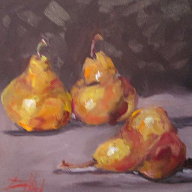 Art: Golden Pears by Artist Delilah Smith