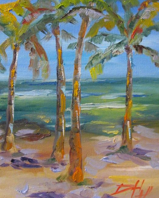 Art: Tropical Palms No. 3 by Artist Delilah Smith