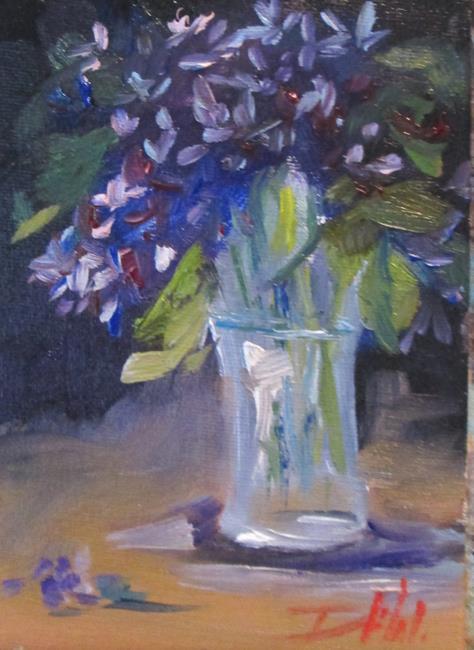 Art: Vase of Lilacs by Artist Delilah Smith