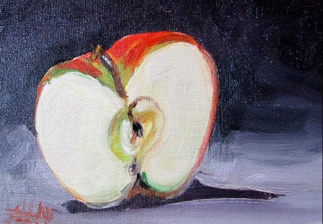 Art: Half an Apple , No. 24 by Artist Delilah Smith
