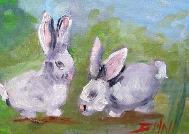 Art: Bunnies by Artist Delilah Smith