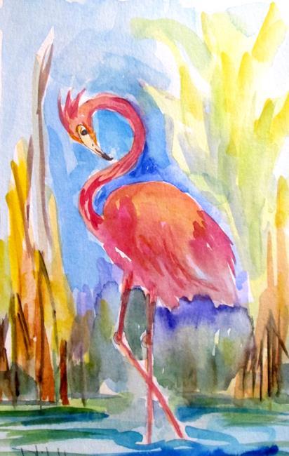 Art: Flamingo No. 19 by Artist Delilah Smith