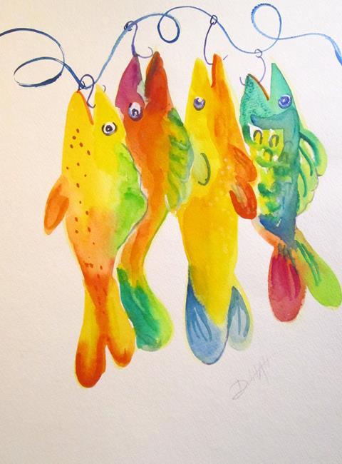 Art: Big Boys,Fish by Artist Delilah Smith