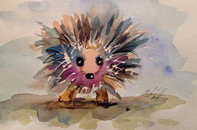 Art: Porcupine by Artist Delilah Smith
