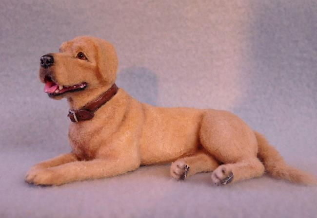 Art: Yellow Lab by Artist Camille Meeker Turner