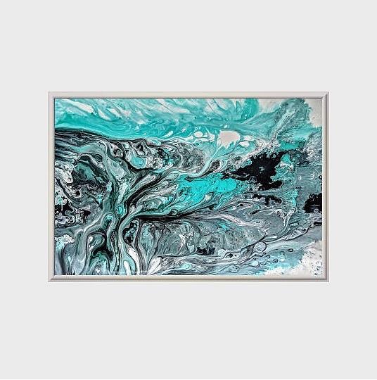 Art: Seafoam Marble II (sold) by Artist Amber Elizabeth Lamoreaux