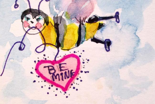 Art: Bee Mine by Artist Delilah Smith