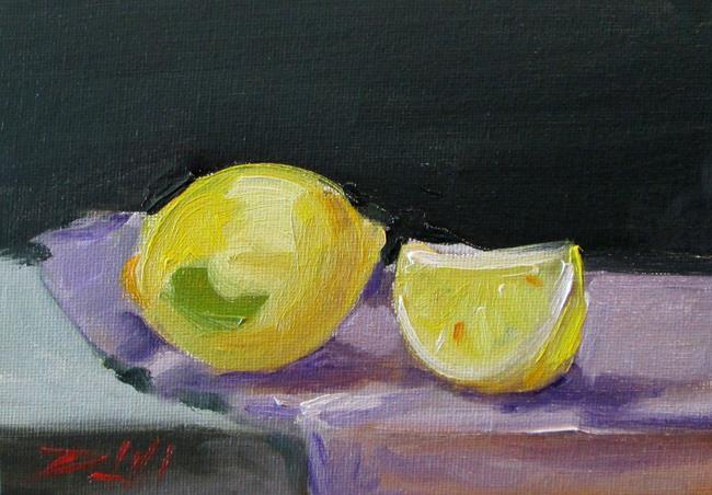 Art: Lemon Still Life No. 3 by Artist Delilah Smith