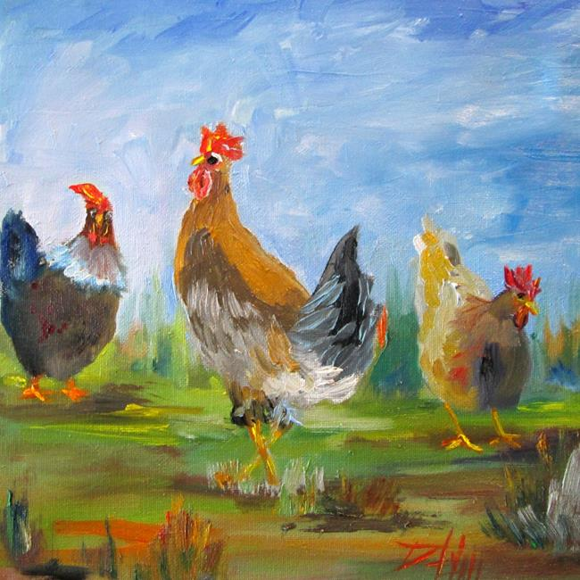 Art: Chickens No. 6 by Artist Delilah Smith