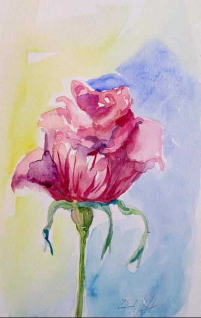 Art: Pink Rose No. 7 by Artist Delilah Smith