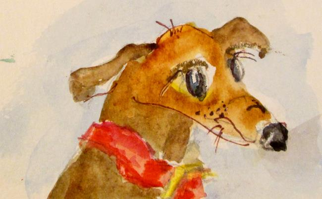 Art: Brown Dog by Artist Delilah Smith