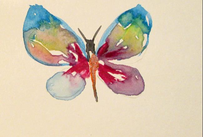 Art: Rainbow Butterfly by Artist Delilah Smith