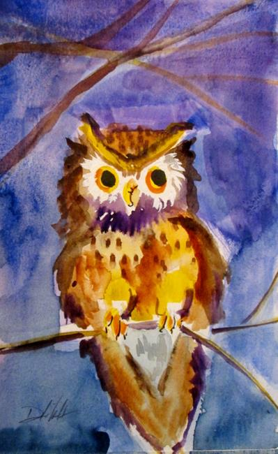 Art: Owl No. 12 by Artist Delilah Smith