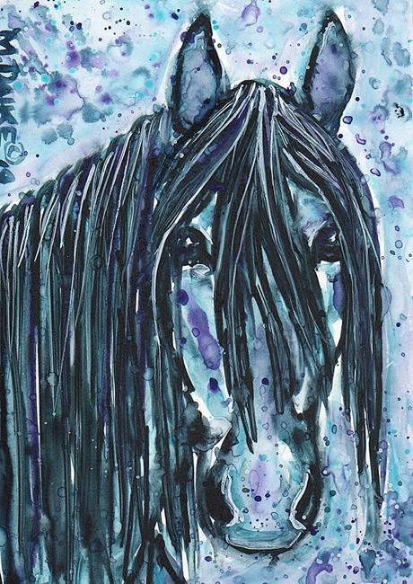 Art: Indigo Stallion by Artist Melinda Dalke