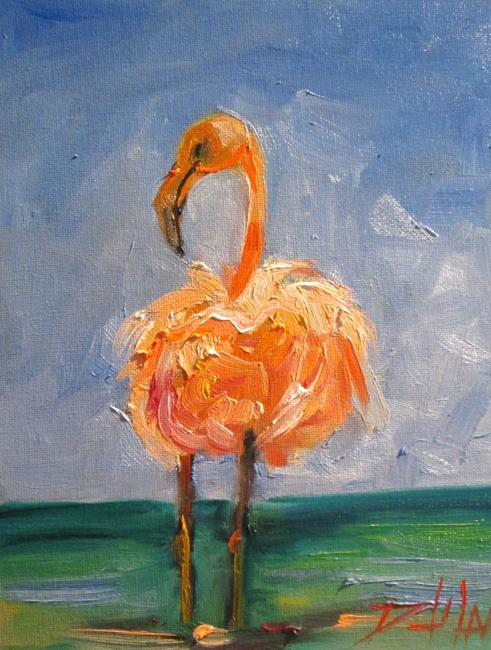 Art: Flamingo No. 21 by Artist Delilah Smith
