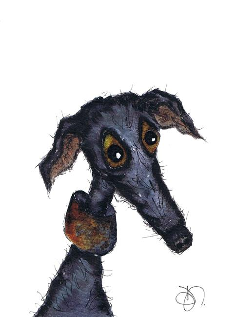 Art: GREYHOUND g243 by Artist Dawn Barker
