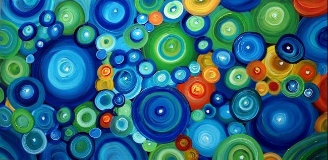 Art: CIRCLES in MOTION by Artist LUIZA VIZOLI