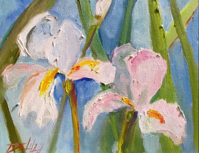 Art: White Iris by Artist Delilah Smith