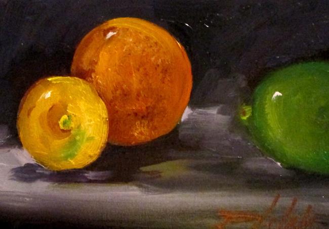 Art: Lemon, Orange ,Lime by Artist Delilah Smith