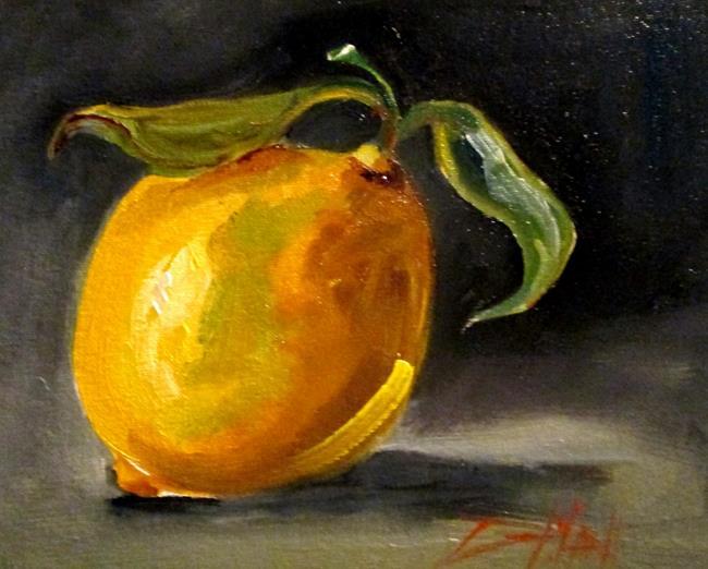 Art: Lemon Still Life No. 4 by Artist Delilah Smith