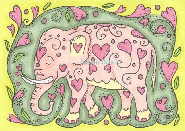 Art: PINKY by Artist Susan Brack
