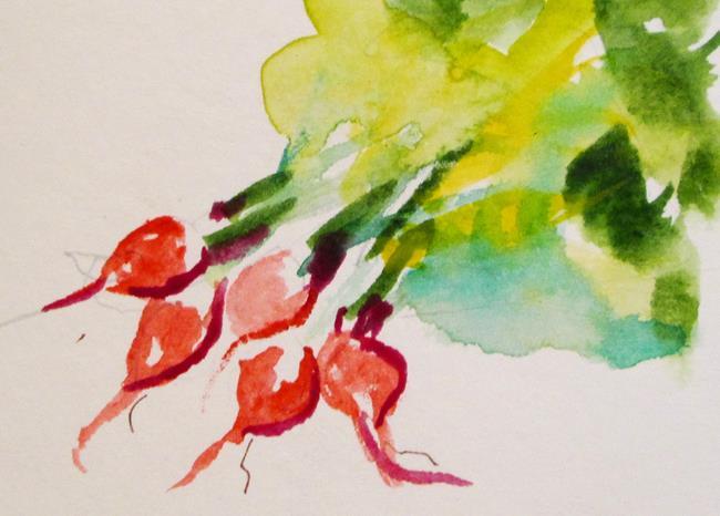 Art: Bunch of Radish by Artist Delilah Smith
